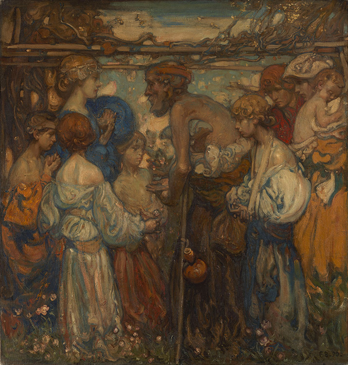 Frank William Brangwyn - 001 La miséricorde - Милосердие - 1890 - 94 x 91 - catalogue 1913, 4 - inv. Ermitage 9091