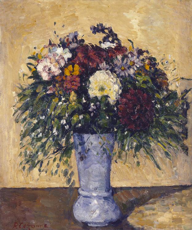 Paul Cézanne - 009 Bouquet de fleurs dans un vase - Букет цветов в вазе - 1876/ 77 - 55,2x46 - Durand-Ruel, vente Choquet 1-4 juillet 1899 - Acheté à Durand-Ruel en 1904, 1600f - cat. 1913, 209 - inv. Ermitage 8954