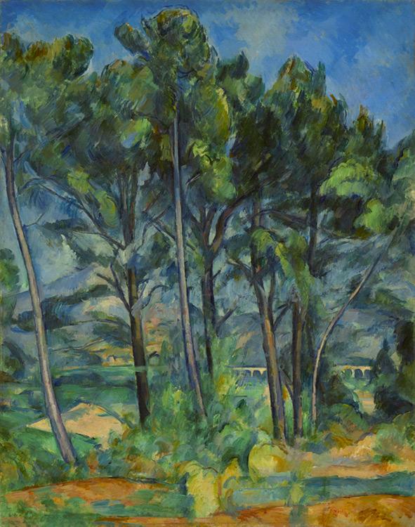 Paul Cézanne - 012 L'aqueduc - Акведук - 1885/87 Annoté par le fils de Cézanne: Aix 1886 - 91x72 - Provenance : Ambroise-Vollard, 4 mai 1906  - Cat. 1913, 206 - inv. Pouchkine J 3337