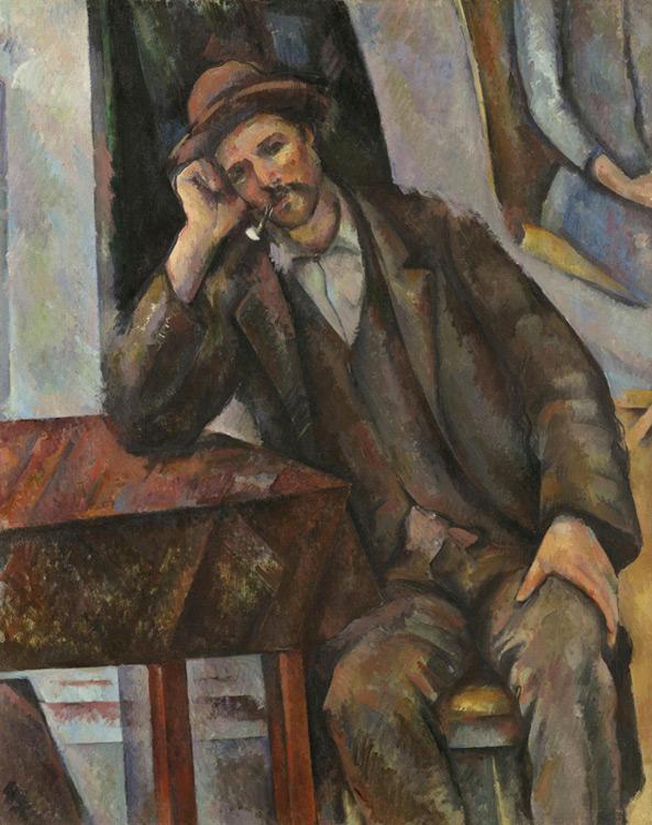 Paul Cézanne - 014 L'homme à la pipe - Человек курящий трубку - 1890/92 - 91x72 - Acheté chez Ambroise Vollard, 10 octobre 1908, 18 000f - cat. 1913, 205 - inv. Pouchkine J3336