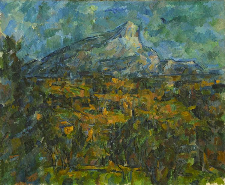 Paul Cézanne - 016 La montagne Sainte Victoire (Paysage d'Aix) - Гора Св Виктории (пейзаж в Эксе) -1906 - 60x73 - acheté par Vollard à la vente de l'atelier Eugène Carrière le 8 juin 1906 ; SC, 19 novembre 1906, 5500f. - cat. 1913, 210 -  inv. Pouchkine J3339