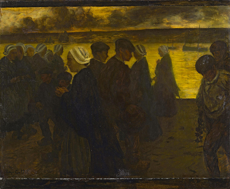 Charles Cottet - 017 Soir de tempête - Бурный вечер - 1895 - 100,8 x 120,8 - Acheté vers 1900 - cat. 1913, 66; inv. Pouchkine J 3284