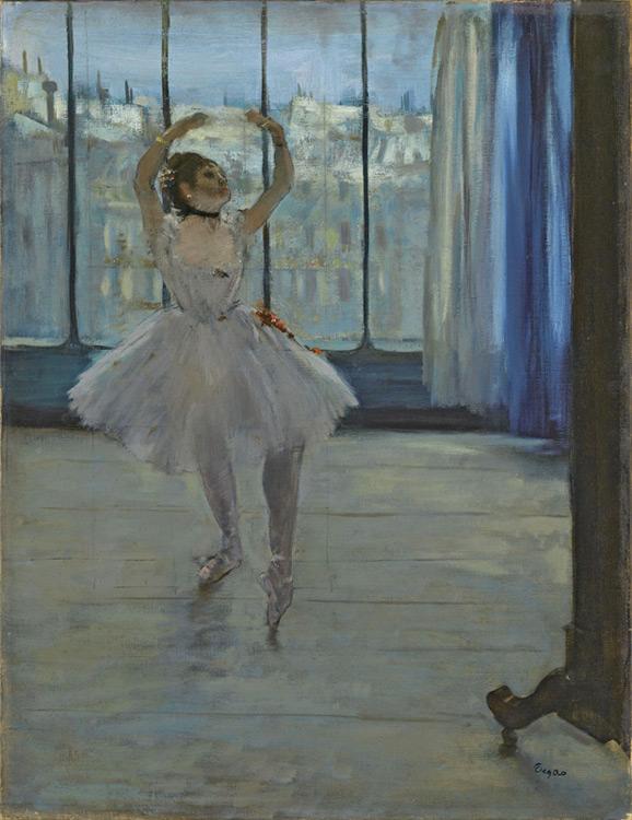 Edgar Degas - 023 La danseuse chez le photographe - Танцовщица у фотографа - 1874 = 65x50 - Acheté chez Durand-Ruel, 19 novembre 1902, 35 000 f - cat. 1913, 39 - inv. Pouchkine J 3274