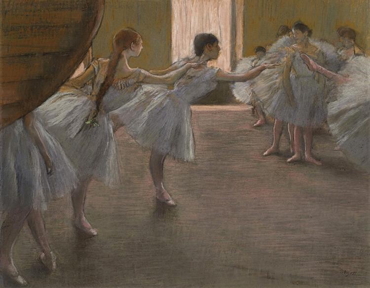 Edgar DEGAS - 024 Danseuses à la répétition - Танцовщицы на репетиции - pastel sur carton - 1875/77 - 50x63 - acheté avant 1903 - cat. 1913, 41 - inv. Pouchkine J 3276