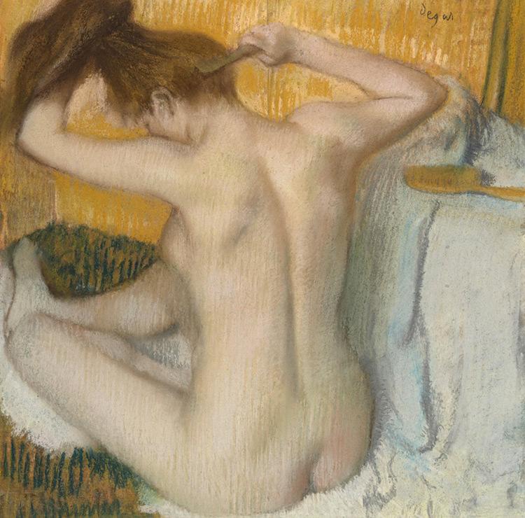 Edgar Degas - 025 La toilette - Туалет - pastel sur carton - 1886 = 53 x 52 - Acquis par Piotr chez Durand-Ruel en 1898 - Acheté à Piotr en 1912 -  cat. 1913, 37 - inv. Ermitage E 42154