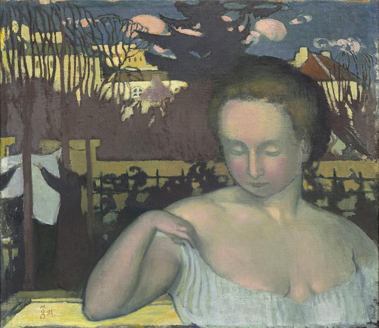Maurice Denis - 027 Portrait de la femme du peintre - Портрет жены художника - 1893 - 45 x 54 - Acheté chez Ambroise Vollard, avril 1899 - cat. 1913, 45 - inv. Pouchkine J 3277