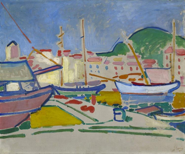 André Derain - 031 Le port (Collioure) - Порт -  1905 - 62 x 73 - Acquis chez Kahnweiler, 1914 - cat. 1913, ajout 238 - inv. Ermitage 6540