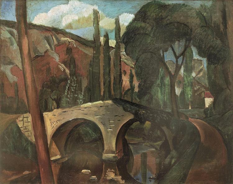 André Derain - 032 Le vieux pont - Старый мост в Кань - 1910/12 - 73 x 92 - Acheté chez Kahnweiler, début 1913 ? - cat. 1913, 50 - inv. Pouchkine J 3278