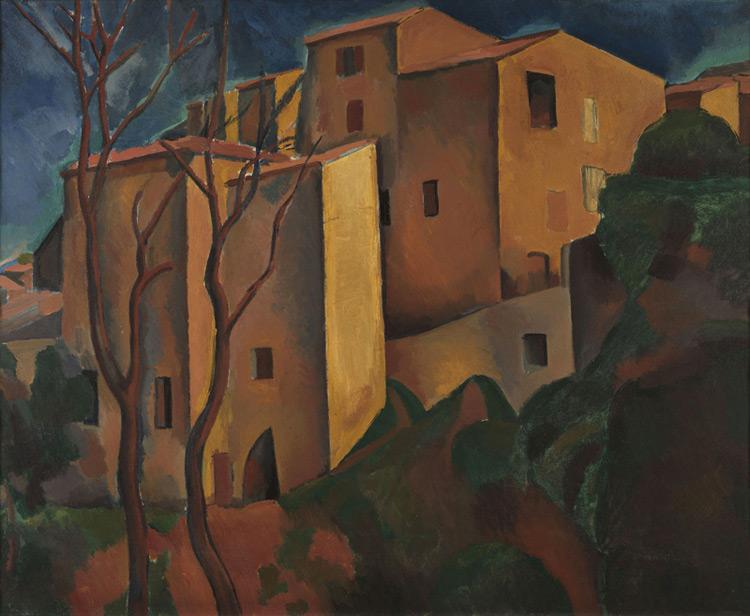 André Derain 033 Le château (ancien quartier de Cagnes) - Замок (Старый город в Кань) - 1910 - 66x82 - Acheté chez Kahnweiler en 1914 SC - cat. 1913, 52 - inv. Pouchkine J 3279