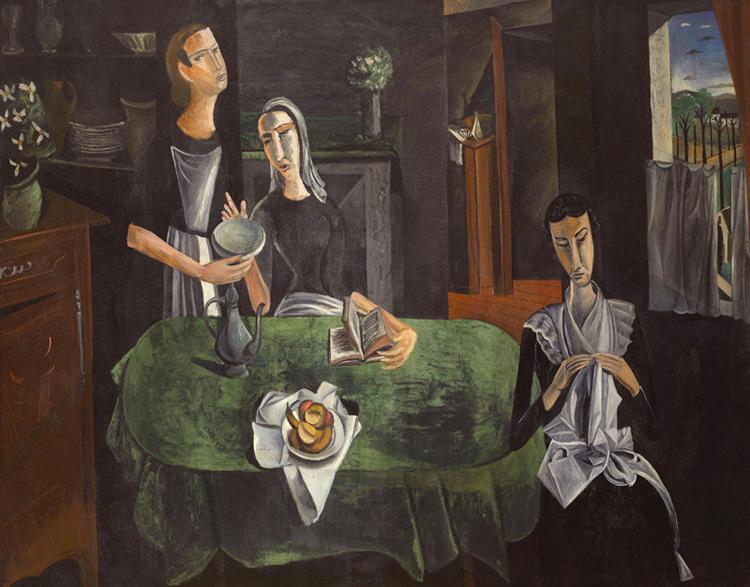 André Derain - 035 Le samedi - Субботний день - 1911 - 181 x 228 - Acquis chez Kahnweiler, début 1914, 12 000 f  - cat. 1913, ajout 235 - inv. Pouchkine J 3353
