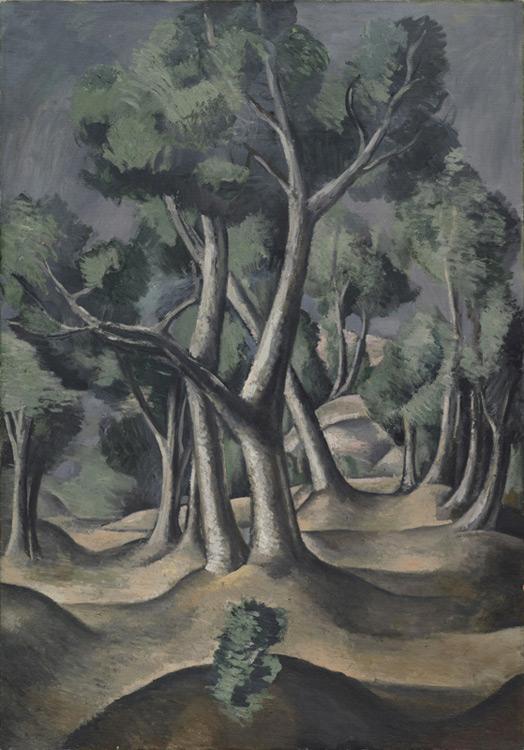 André Derain - 036 Le bois -  Роща - 1912 - 116.5x81,3 - Acheté chez Kahnweiler, début 1913?  cat. 1913, 46 - inv. Ermitage E 9085