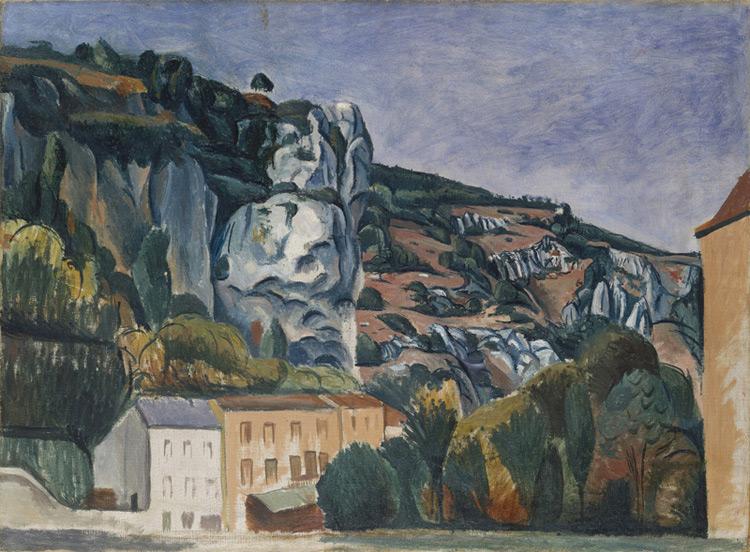 André Derain - 039 Les rochers - Скалы - 1912 - 60,5x81 - Acheté chez Kahnweiler, 1913 ? - cat. 1913, 51 - inv. Ermitage E 6541