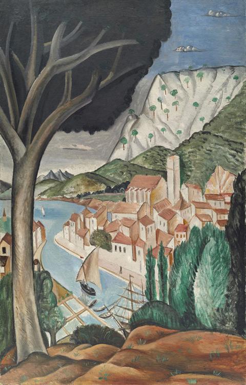 André Derain - 044 Le port en Provence (Martigues) - Мартиг (Гавань в Провансе) - 1913 - 141x90 - Acheté chez Kahnweiler, début 1914, 4500 f (avec 46) - cat. 1913, 240 ajout - inv. Ermitage 9101