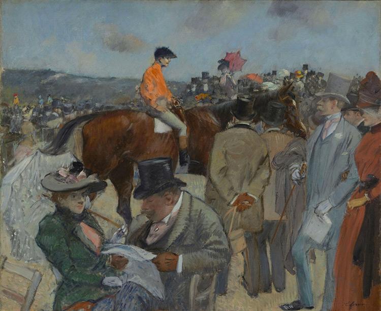 Jean-Louis Forain - 050 Les courses - Скачки - 1888/90 - 38x45 - Acheté chez Durand-Ruel en 1898 - cat. 1913, 221 - inv. Pouchkine J 3347