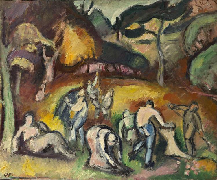 Emile Othon Friesz - 054 Travaux d'automne - Осенние работы - 1907 - 54x65 - Provenance? Galerie Druet, 1909 ? - cat. 1913, 225 - inv. Ermitage 8890