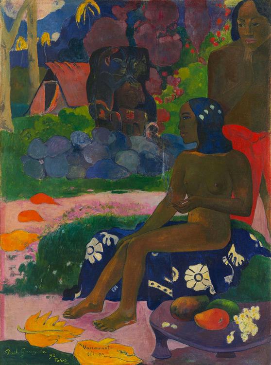 Paul Gauguin - 056 On l'appelle Vaïaraumati - Ее звали Вайрумати - 1892 - 91x63 - Acheté chez Vollard, 6 novembre 1906 - cat. 1913, 21 - inv. Pouchkine J 3266