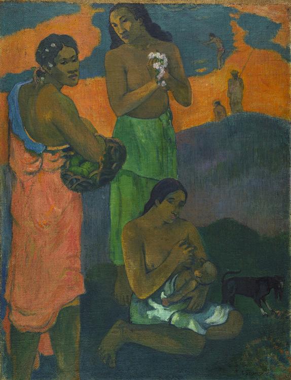 Paul Gauguin - 057 Femmes au bord de la mer (maternité) - Женщины на берегу моря (Материнство) - 1899 - 95,5x73,5 - Acquis chez Vollard le 10 novembre 1904, 3500 f - cat. 1913, 25 - inv. Ermitage 8979