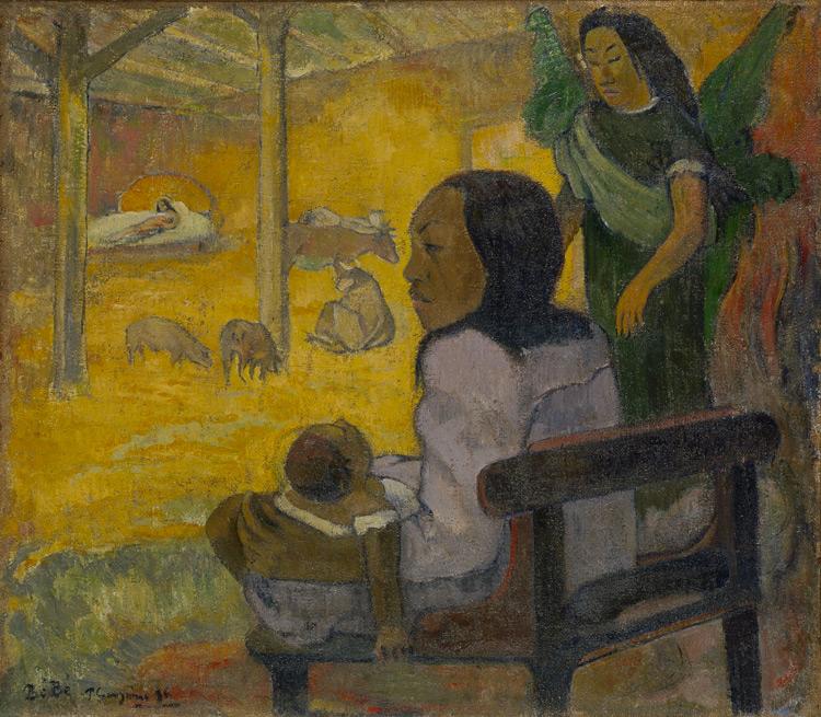Paul Gauguin - 062 Le petit enfant (Nativité tahitienne) - Младенец (Рождество) - 1896 - 67x76,5 - Acquis chez Vollard, 5 novembre 1906 (+ 058 +061), 21 000f - cat. 1913, 27 - inv. Ermitage 6568