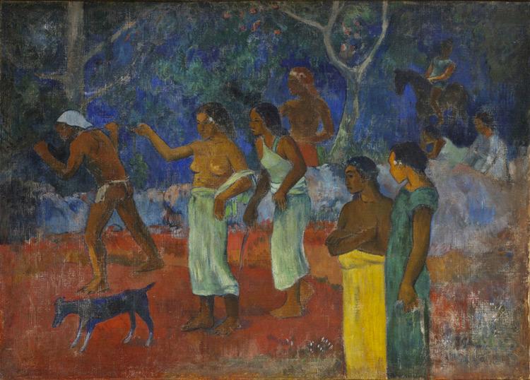 Paul Gauguin - 063 Scène de la vie de Tahiti - Сцена из жизни таитян - 1896 - 90x125,7 - Provenance? - cat. 1913, 28 - inv. Ermitage 6517