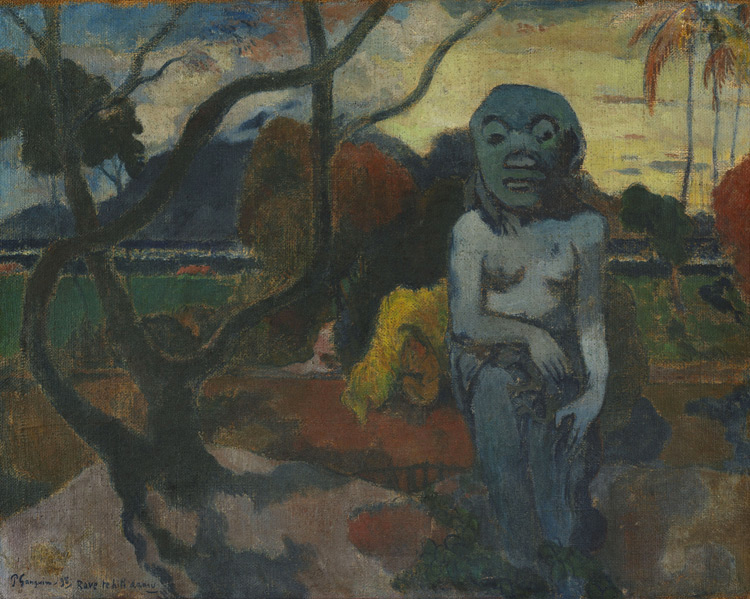 Paul Gauguin - 065 L'idole - Идол. Rave te hiti aamu - 1898 - 73,5x92 - Provenance? Vollard 1906? - cat. 1913, 20 - inv. Ermitage 9121