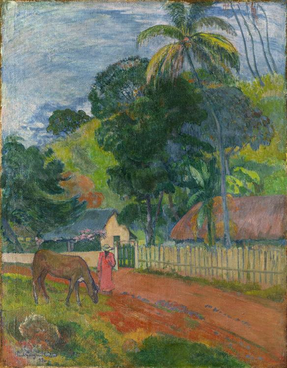 Paul Gauguin - 066 Paysage - Пейзаж. Лошадь на дороге - 1899 - 94x73 - acheté chez Vollard, 10 novembre 1904 avec 057, 3500 f - cat. 1913, 17 - inv. Pouchkine J 3263