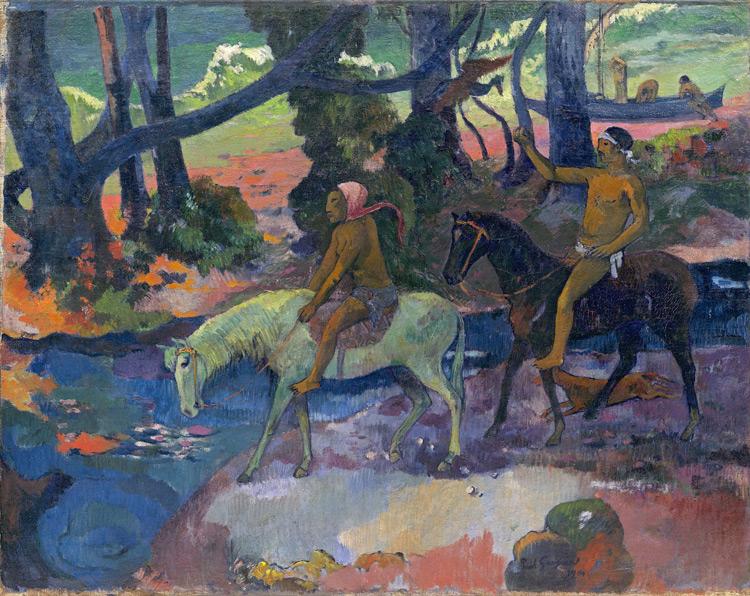 Paul Gauguin - 070 Le gué, l'évasion - Брод (Бегство) - 1901 - 76x95 - Acheté chez Vollard, 28 avril 1908 + 067,(8000f) - cat. 1913, 31 - inv. Pouchkine J 3270