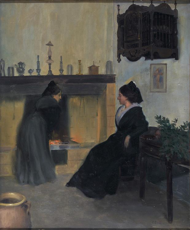 Emile Giran - 071 Intérieur (Deux femmes dans une pièce) - внутрь - 1901 - 54x44 - Acquisition entre 1901 et 1903 - cat. 1913, 59 - le tableau est au musée de Bakou