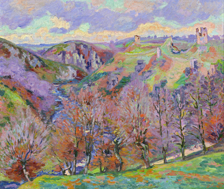 Armand Guillaumin - 076 Paysage aux ruines - Пейзаж с руинами - 1890 - 79x83 - Acquis vers 1900/1903 SC ? - cat. 1913, 15 - inv. Pouchkine J 3262