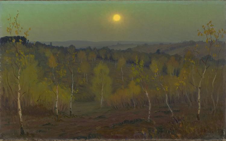 Charles Guilloux - 077 Clair de lune au bois de Montmorency - Лунная ночь в лесу Монмарси - Acquis vers 1900 ? - cat. 1913, 16 - inv. Ermitage 8902