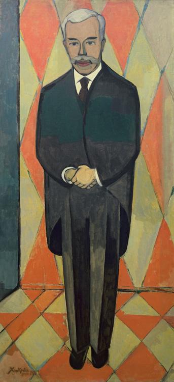 Xan (Christian Cornelius) Krohn - 079 Portrait de Sergueï Chtchoukine en pied - Портрет С.И. Щукина (в рост) - janvier 1916 - 190x86,3 - Acquis en 1916 - ne figure pas au catalogue de 1913 - inv. Ermitage 9144