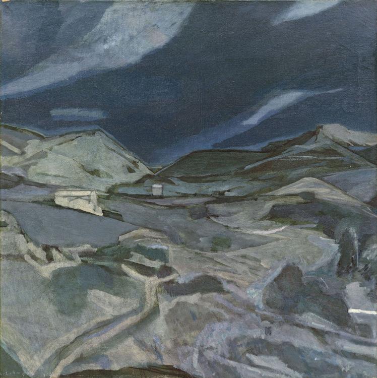 Léon Lehmann - 086 Les montagnes - Горы - 1909 - 81x81 - Acheté au Salon d'automne 1909 - cat. 1913, 73 - inv. Pouchkine J 3285