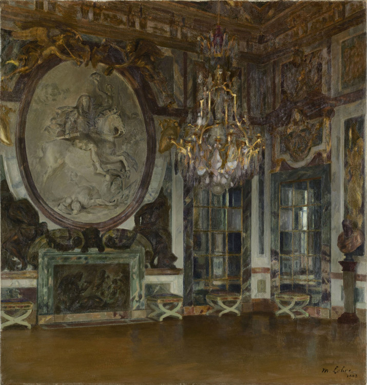 Maurice Lobre -  Salon de guerre à Versailles - Зал войны в Версальском дворце - 1903 - 96x91 - Acheté au salon National des Beaux-arts en 1903 - cat. 1913, 77 - inv. Pouchkine J 3287