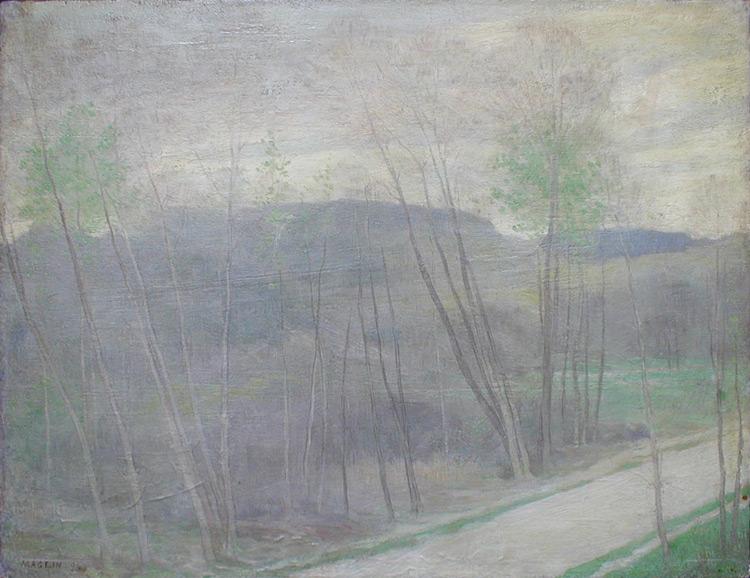 Fernand Maglin - 092 Le printemps à Bouchet - весна в Буше - 1894 - 32x41 - Acheté à Paris vers 1904 - cat. 1913, 81 - Depuis 1948 le tableau est au musée d'Odessa