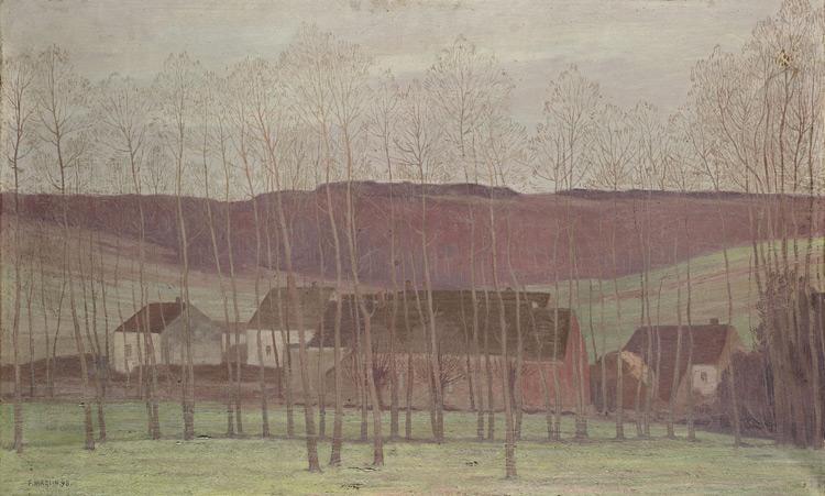 Fernand Maglin - 093 Le hameau - Деревушка - 1898 - 41x65 - Acheté vers 1904 - cat. 1913, 82 - inv. Ermitage 6558