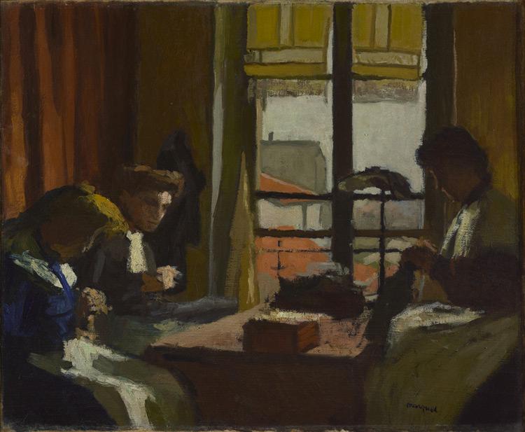 Albert Marquet - 096 Les modistes -  Модистки - 1901 - 50,5x61 - Acheté chez Druet, vers 1908? - cat. 1913, 91 - inv. Ermitage 9030