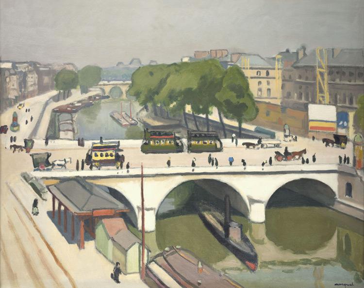 Albert Marquet - 098 Le pont Saint Michel - Мост Сен-Мишель в Париже - 1908 - 65x81 - Acheté chez Druet,  été 1911  (avec 99 +100 + 103) - cat. 1913, 84 - inv. Pouchkine J 3289