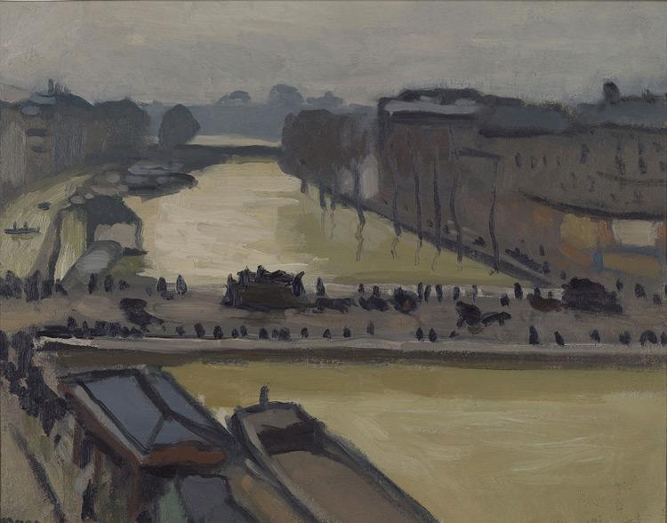 Albert Marquet - 103 L'inondation à Paris - Наводнение в Париже. Мост Сен-Мишель - 1910 - 33x41 - Acheté chez Druet, été 1911 ? - cat. 1913, 85 - inv. Pouchkine J 3290