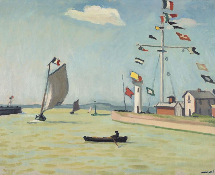 Albert Marquet - 104 Honfleur - Порт в Онфлере - 1911 - 65x81 - Acheté à Druet, 1911? - cat. 1913, 87 - inv. Pouchkine J 3291