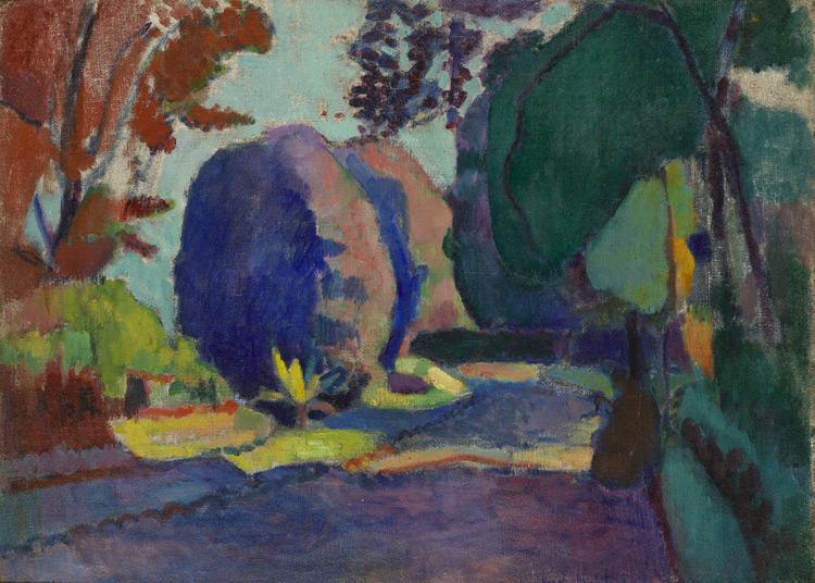Henri Matisse -105 Jardin du Luxembourg - Люксембургский сад - 1901/2 - 59, 5x81, 5 - Acheté à la Galerie Druet, octobre 1906 - cat. 1913, 113 - inv. Ermitage 9041