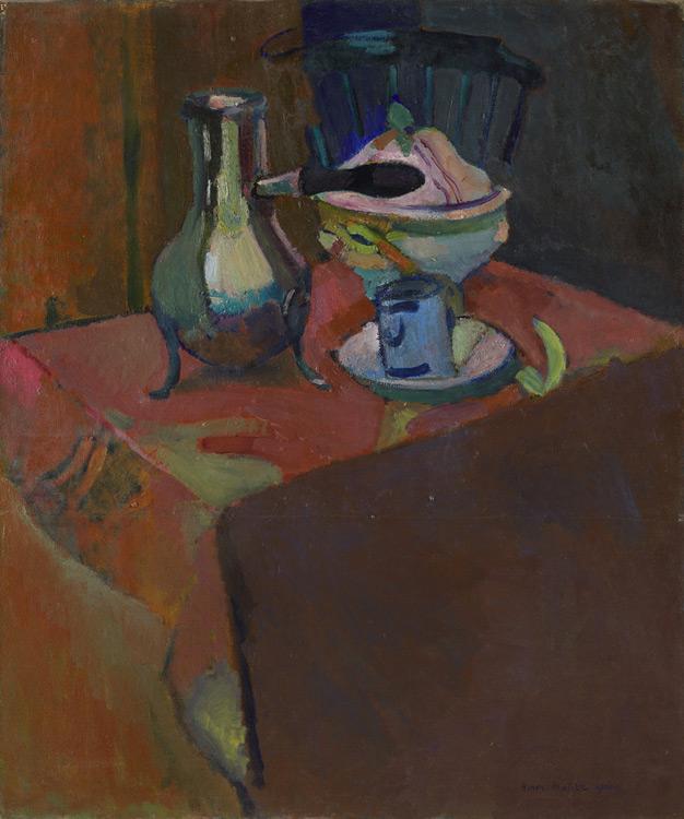 Henri Matisse - 106 Nature morte à la soupière (vaisselle sur table) - Натюрморт. Посуда на столе - 1900 - 97x82 - Acheté chez Vollard, 28 avril 1908, 800 f,+108 - cat. 1913, 99 - inv. Ermitage 6518