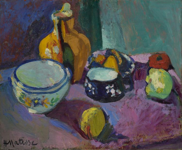 Henri Matisse - 107 Nature morte (vaisselle et fruits) - Посуда и фрукты - 1901 - 51x61, 5 - acheté à la Galerie Berthe Weil, juin 1908, 900f - cat. 1913, 106 - inv. Ermitage 7697