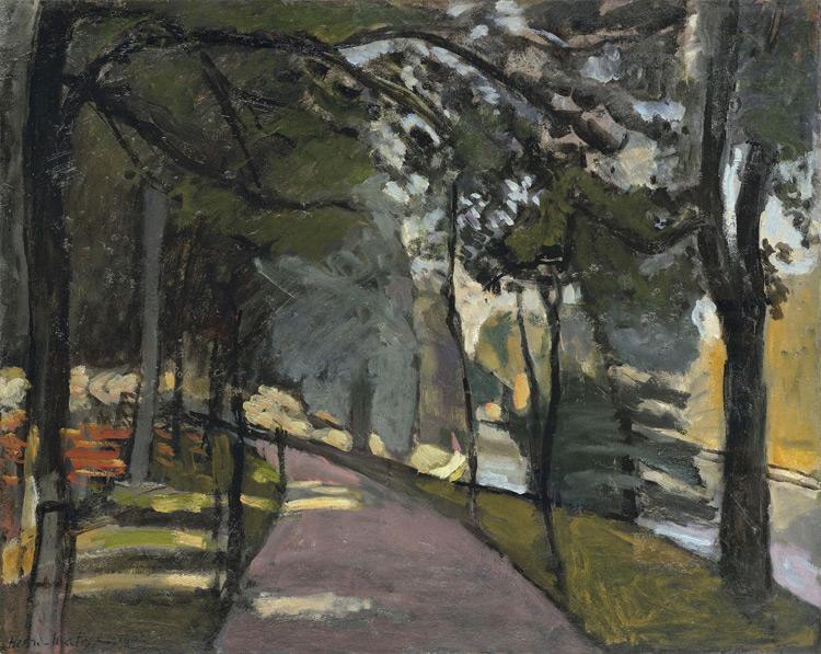 Henri Matisse - 108 Le bois de Boulogne - Булонский лес - 1902 - 63x79, 5 - Acheté chez Vollard, 28 avril 1908, 800 F +106 +Gauguin 067 et 070 - cat. 1913, 118 - inv. Pouchkine J 3300