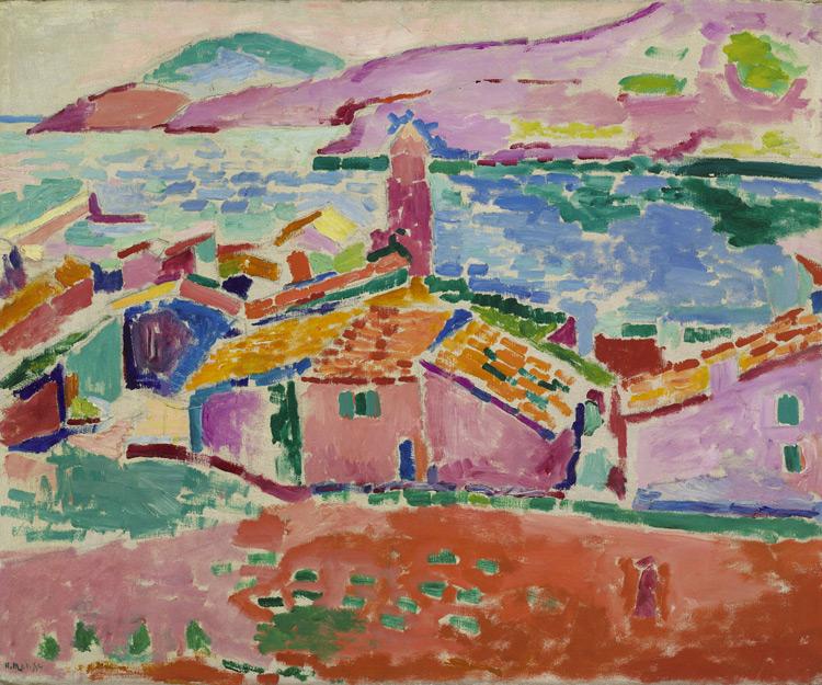 Henri Matisse - 109 Vue de Collioure -  Вид Коллиура - 1905 - 59,5x75 - Acheté chez Bernheim-Jeune le 9 Janvier 1909, 1000 f - cat. 1913, 111 - inv. Ermitage 8997