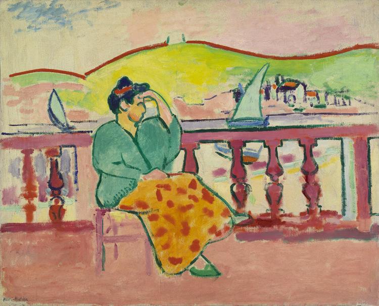 Henri Matisse - 112 La dame sur la terrasse - Дама на террасе - 1907 - 65x80, 5 - Acquis chez Druet en 1908 - cat. 1913, 108 - inv. Ermitage 9040