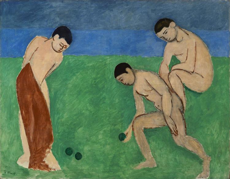 Henri Matisse - 116 Les joueurs de boules - Игра в шары (Игра в мяч) - 1908 - 115x147 - Acheté à l'atelier en 1908, 1500f (par l'intermédiaire de Bernheim) - cat. 1913, 109 - inv. Ermitage 9154
