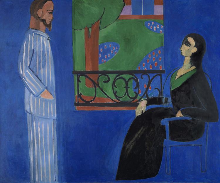 Henri Matisse - 118 La conversation - Разговор - 1908/12 - 177x217 - Acheté à l'atelier en juillet 1912, 10 000 f - cat. 1913, 122 - inv. Ermitage 6521