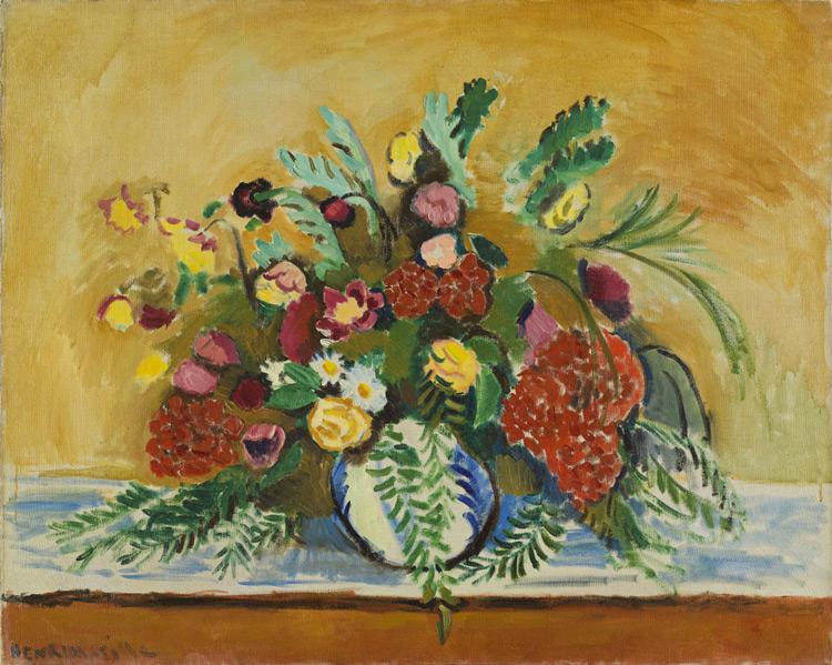 Henri Matisse - 123 Nature morte (vase blanc avec fleurs) - Букет цветов в белой вазе - 1909 - 82x100,5 - Réservé par Matisse pour Chtchoukine, été 1909, 1000f - cat. 1913, 107 - inv. Pouchkine J 3298