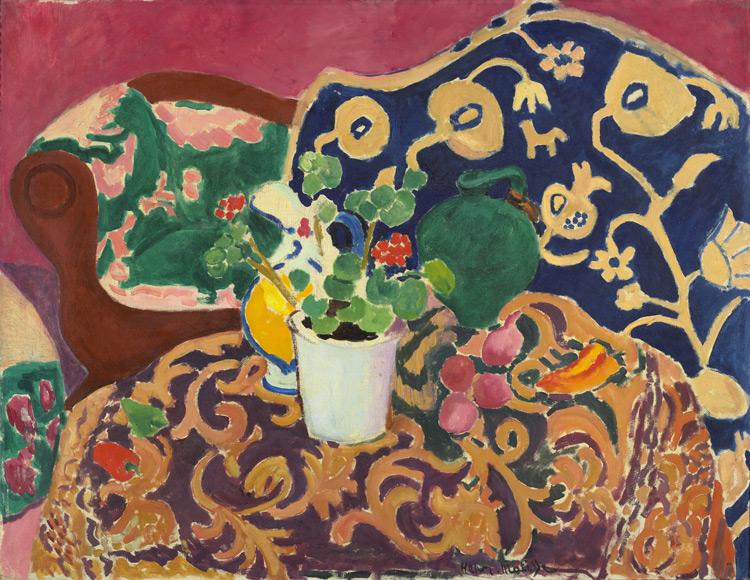 Henri Matisse - 129 Nature morte espagnole (Seville2) - Испанский натюрморт - 1910/11 - 89x116 - Acheté à l'atelier, janvier1911, 5000 f - cat. 1913, 116 - inv. Ermitage 9043