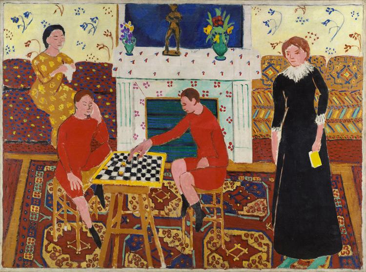 Henri Matisse - 131 La famille du peintre - Семейный портрет - 1911 - 143x194 - Acheté à l'atelier, printemps 1911, 10 000f - cat. 1913, 96 - inv. Ermitage 8940