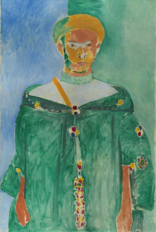 Henri Matisse - 134 Le rifain en vert, debout - Стоящий марокканец в зеленой одежде (Марокканец в зелёном) - 1913 - 145x96,5 - Acheté à l'atelier, 6000fr - cat. 1913, 119 - inv. Ermitage 9155